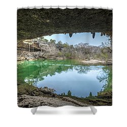 Hamilton Pool Shower Curtain by David Morefield