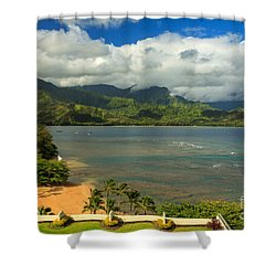 Hanalei Bay Shower Curtain by James Eddy