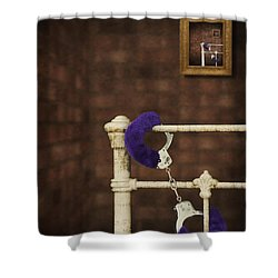 Handcuffs Shower Curtain by Amanda And Christopher Elwell