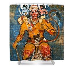 Hanuman Shower Curtain by Kurt Van Wagner