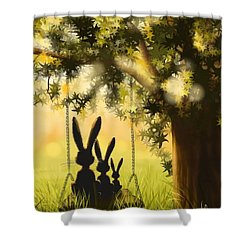 Happily Together Shower Curtain by Veronica Minozzi