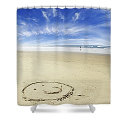 Happiness Shower Curtain by Les Cunliffe