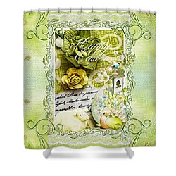 Happy Easter 3 Shower Curtain by Mo T