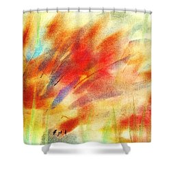 Happy Hedgehog Shower Curtain by Anastasiya Malakhova