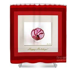 Happy Holidays. Red Poppy Shower Curtain by Oksana Semenchenko