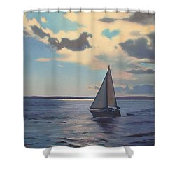 Happy Hour Shower Curtain by Dianne Panarelli Miller
