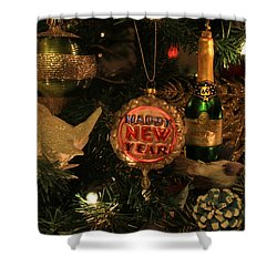 Happy New Year  Shower Curtain by Donna Kennedy