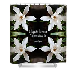 Happy - Omar Khayyam Quote  Shower Curtain by Susan Bloom