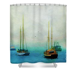Harbor Fog Shower Curtain by Darren Fisher