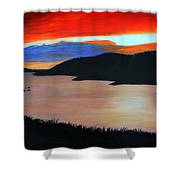 Harbour Sunset Shower Curtain by Barbara Griffin