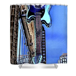 Hard Rock Cafe Seattle Shower Curtain by David Patterson