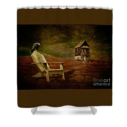 Hard Times Shower Curtain by Lois Bryan