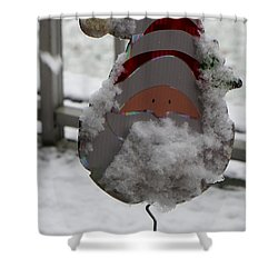 Hardworking Santa Shower Curtain by Sonali Gangane