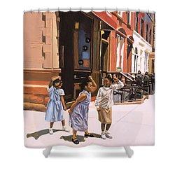Harlem Jig Shower Curtain by Colin Bootman