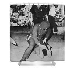 Harlem Race Riots Shower Curtain by Underwood Archives