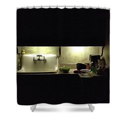 Harlem Sink Shower Curtain by H James Hoff