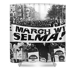Harlem Supports Selma Shower Curtain by Stanley Wolfson