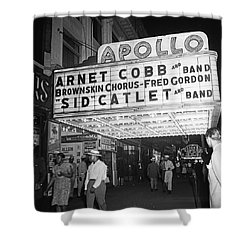 Harlem's Apollo Theater Shower Curtain by Underwood Archives Gottlieb