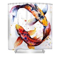 Harmony Shower Curtain by Zaira Dzhaubaeva