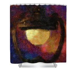 Harp Lamp Shower Curtain by Jack Zulli