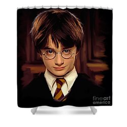 Harry Potter Shower Curtain by Paul Tagliamonte