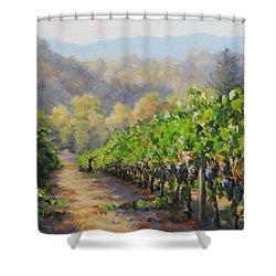 Harvest Morning Shower Curtain by Karen Ilari