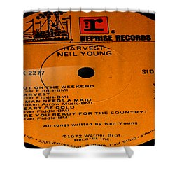 Harvest - Neil Young Side 1 Shower Curtain by Marcello Cicchini