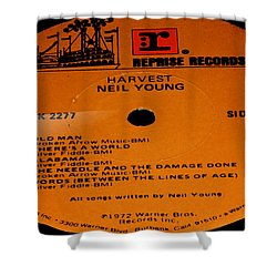 Harvest Neil Young Side 2 Shower Curtain by Marcello Cicchini
