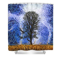 Harvest Storm Shower Curtain by Dan Sproul
