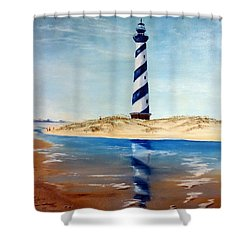 Hatteras Lighthouse Shower Curtain by Lee Piper