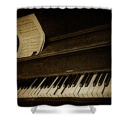 Haunted Melody Shower Curtain by Amy Weiss