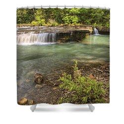 Haw Creek Falls Basin - Ozarks - Arkansas Shower Curtain by Jason Politte