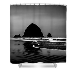 Haystack Rock On Cannon Beach Shower Curtain by David Patterson