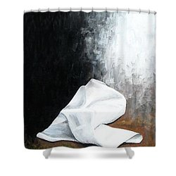 He Is Risen Shower Curtain by Kume Bryant
