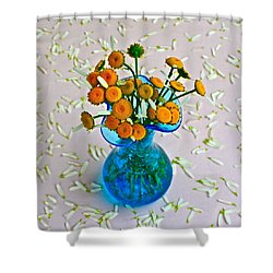 He Loves Me Bouquet Shower Curtain by Frozen in Time Fine Art Photography