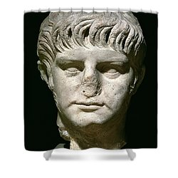 Head Of Nero Shower Curtain by Anonymous