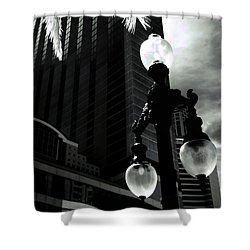 Head Toward The Light Shower Curtain by Robert McCubbin