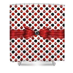 Healing Ladybugs Shower Curtain by Debra  Miller