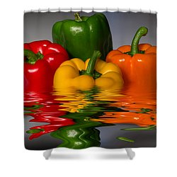 Healthy Reflections Shower Curtain by Shane Bechler