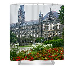 Healy Hall Shower Curtain by Mitch Cat