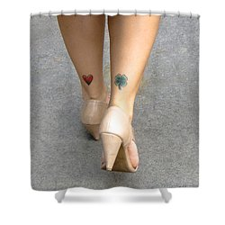 Heart And Shamrock In Sao Paulo Shower Curtain by Julie Niemela
