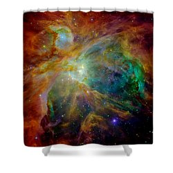 Heart Of Orion Shower Curtain by Benjamin Yeager