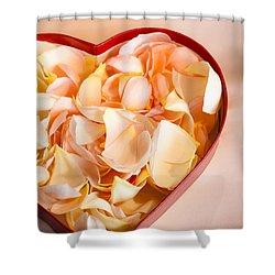 Heartfelt Shower Curtain by Jan Bickerton