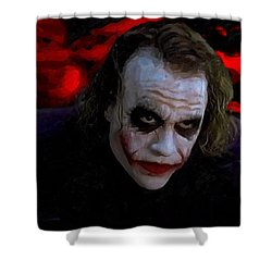 Heath Ledger As Joker Shower Curtain by Image World