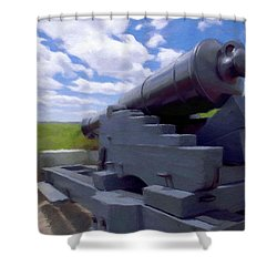 Heavy Artillery Shower Curtain by Jeff Kolker