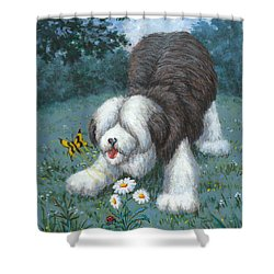 Hector Hassels A Butterfly Shower Curtain by Richard De Wolfe