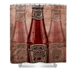 Heinz Tomato Ketchup Shower Curtain by Dan Sproul