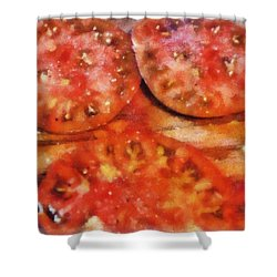Heirlooms With Salt And Pepper Shower Curtain by Michelle Calkins