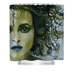 Helena Bonham Carter Shower Curtain by Paul Lovering