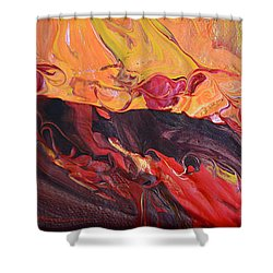 Hell-bent Shower Curtain by Donna Blackhall